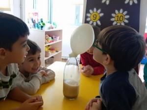 Orman Sınıfı sirke ve karbonat ile balon şişirme deneyi yaptı….